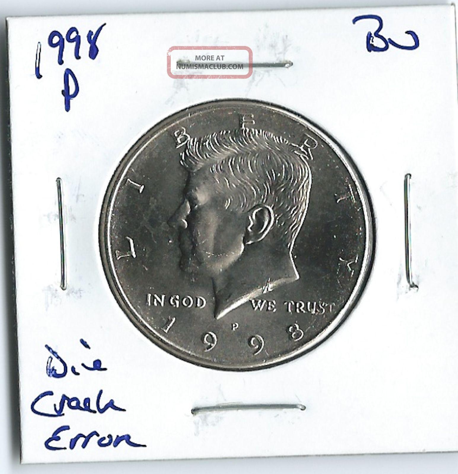 1998 P Kennedy Half Dollar Error Coin