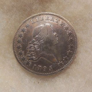 1795 Flowing Hair Half Dollar - O.  117 - Looking Coin - Tooled/cleaned photo
