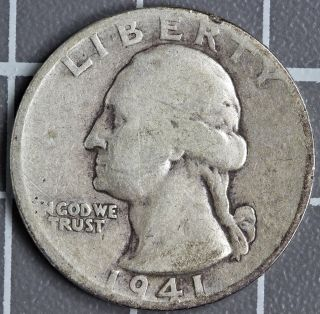 1941 D Washington Quarter Good A Photo