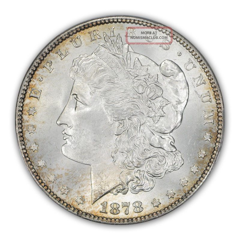 1878 7/8tf $1 7/8tf Strong Morgan Dollar Pcgs Ms65 1153 - 5 Dollars photo