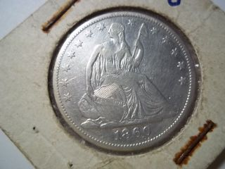 1860 0 Silver Seated Half Dollar photo