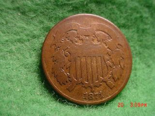 1871 Two Cent,  Good photo