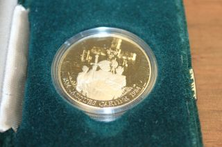 1984 Jacques Cartier Proof Canadian Dollar In Green Velvet Box photo