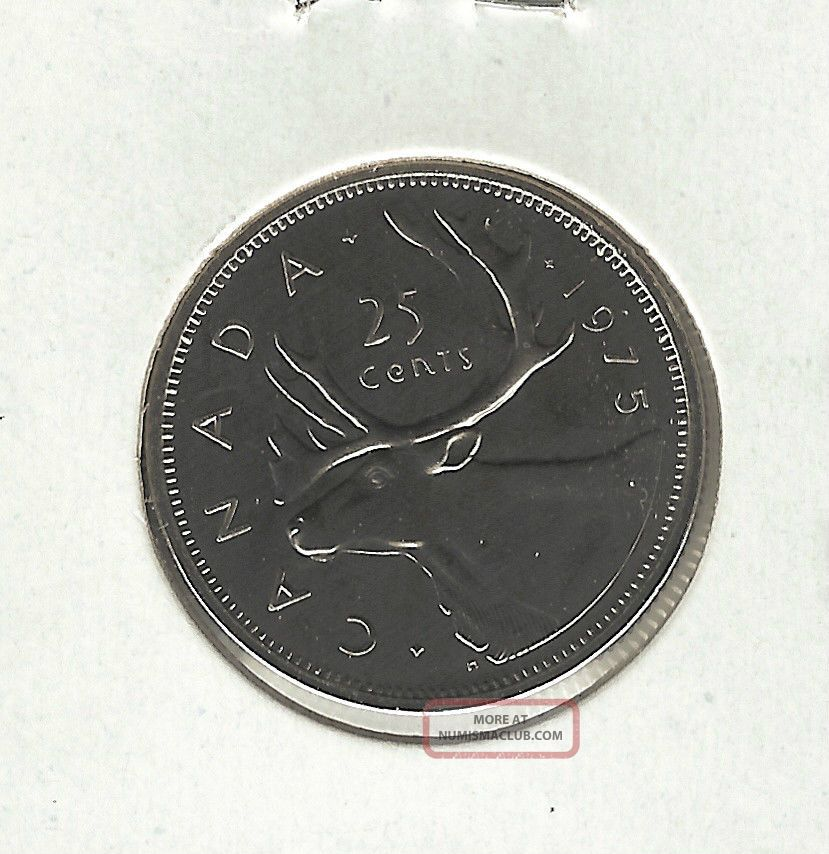 1975 25c Prooflike Canada 25 Cents