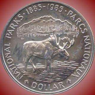 1985 Canada Silver Collector Dollar Coin (23.  3 Grams.  500 Silver) No Tax photo