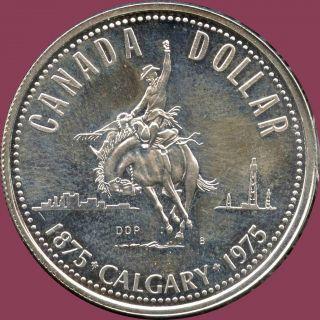 1975 Canada Uncirculated Silver Dollar Coin (23.  3 Grams.  500 Silver) No Tax photo