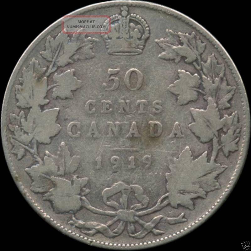 1919 Canada Silver 50 Cent Piece (11.  66 Grams.  925 Silver) No Tax Coins: Canada photo