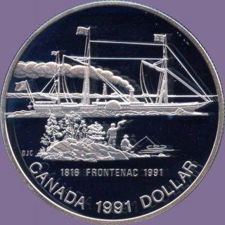 1991 Canada Silver Collector Dollar Coin (23.  3 Grams.  500 Silver) (no Tax) photo