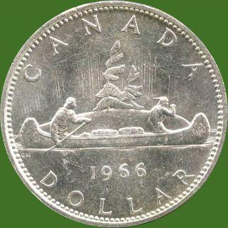 1966 Canada Silver Dollar Coin (23.  33 Grams.  800 Silver) (no Tax) photo