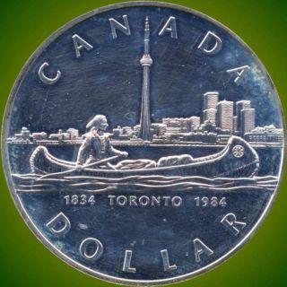 1984 Canada Silver Collector Dollar Coin (23.  3 Grams.  500 Silver) (no Tax) photo