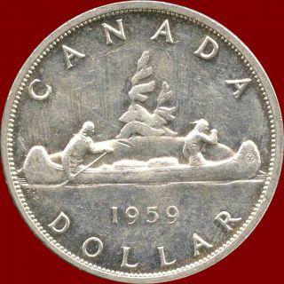 1959 Canada Silver Dollar Coin (23.  33 Grams.  800 Silver) (no Tax) photo