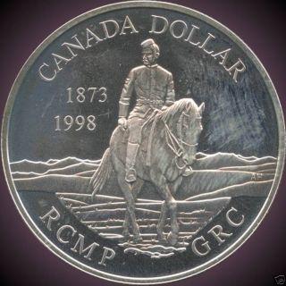 1998 Canada Proof Silver Collector Dollar (25.  175 Grams.  925 Silver) No Tax photo
