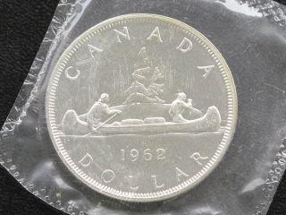 1962 Canada Dollar Elizabeth Ii 80% Silver Proof - Like Coin D0613 photo
