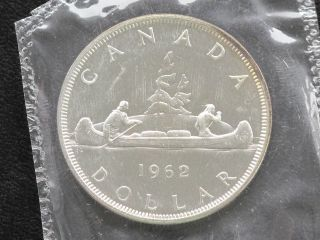 1962 Canada Dollar Elizabeth Ii 80% Silver Proof - Like Coin D0614 photo