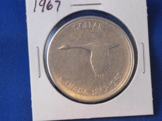 1967 Canada Silver Dollar Canadian Coin B2840 photo