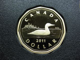 2011 Canadian Proof Loonie ($1.  00) photo