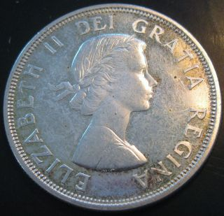 Canada 1964 Silver Dollar As Pictured S204 photo