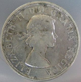 Canada 1964 Silver Dollar Extra Fine Ta27 photo