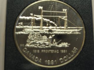 1991 Canada Silver Proof Dollar 1816 Frontenac 1991 photo