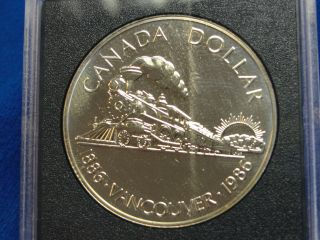 1986 Canada Silver Proof Dollar 1886 Vancouver 1986 photo