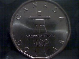 2010 Canada Olympic Logo Dollar Inukshuk Ms65 Iccs photo