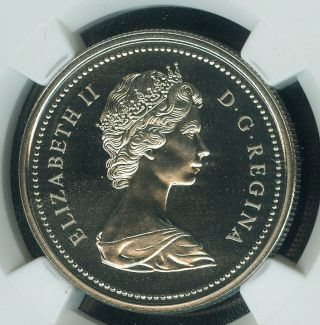 1973 Canada Pei $1 Dollar Ngc Pl - 67 Cameo + 2nd Finest Graded Rare photo