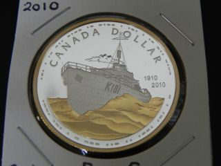 2010 Silver Proof Canada 100th Anniversary Royal Canadian Navy $1 Dollar photo