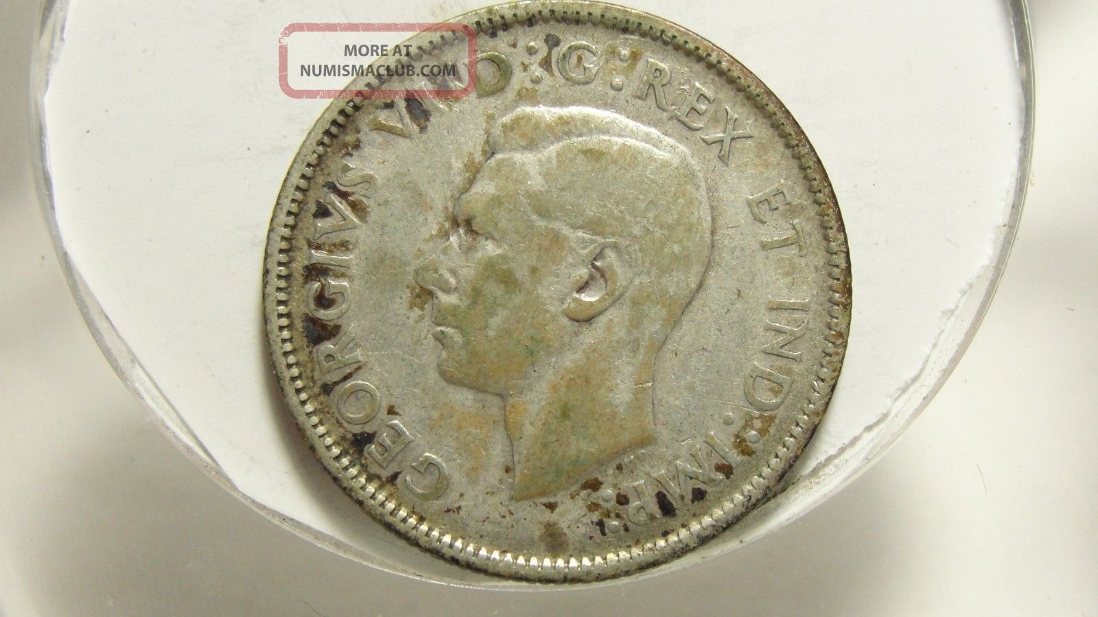 1947 25c Canada 25 Cents Silver Maple Leaf Canadian