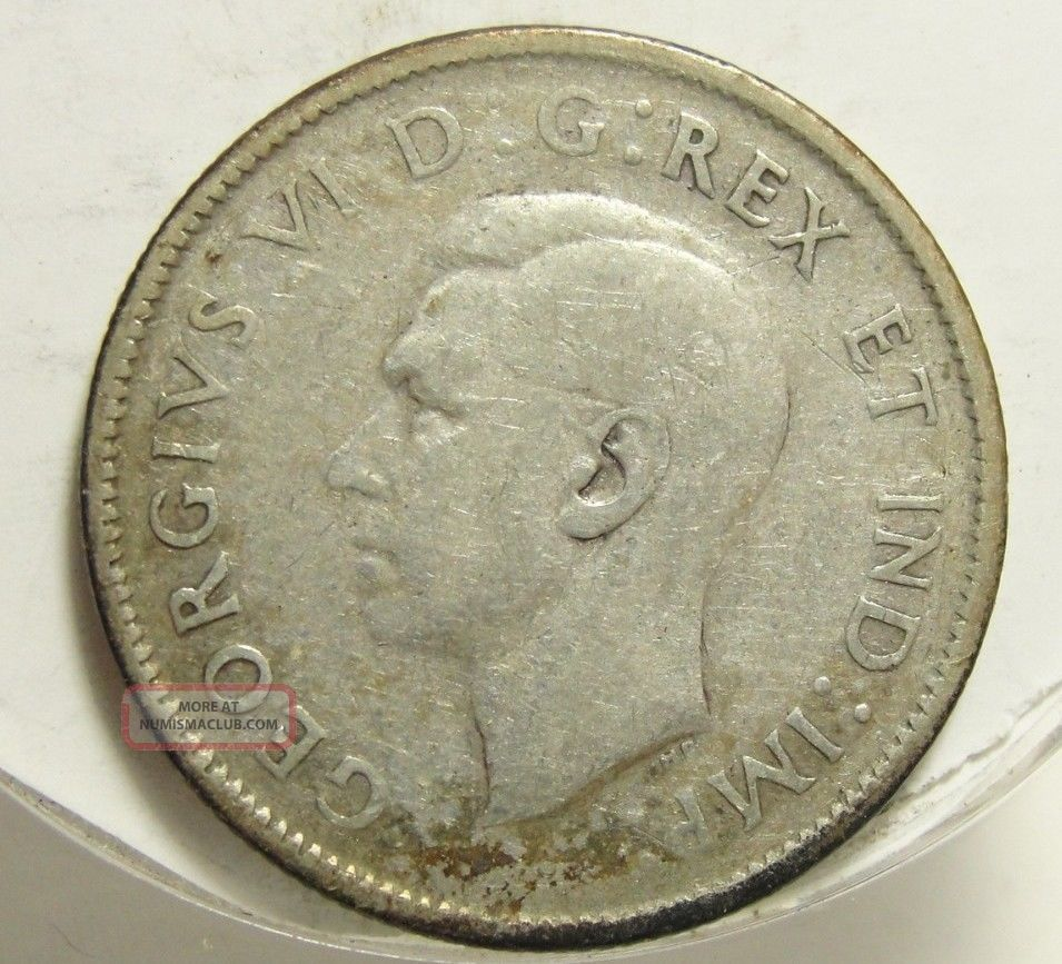 1945 25c Canada 25 Cents Silver Canadian Quarter 4372