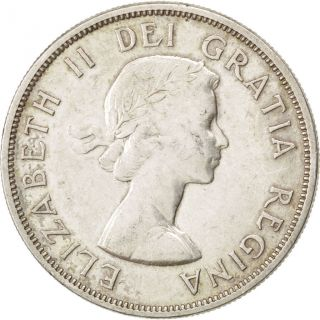 [ 41034] Canada,  Elizabeth Ii,  1 Dollar 1958,  Colombie,  Km 55,  Km 55 photo