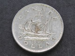 1949 Canada Silver Dollar Georgivs Vi Canadian A6123 photo