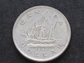 1949 Canada Silver Dollar Georgivs Vi Canadian A6124 photo