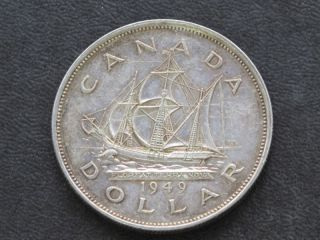 1949 Canada Silver Dollar Georgivs Vi Canadian A6125 photo
