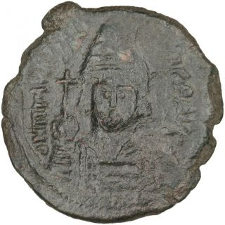 Bysantine Empire,  Maurice Tibère,  Follis photo