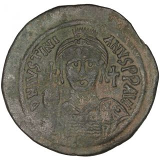 Bysantine Empire,  Justinien Ier,  Follis photo