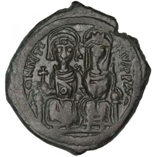 Bysantine Empire,  Justin Ii,  Follis photo
