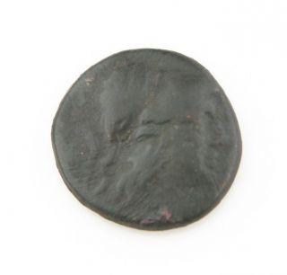 247 - 239 Bc Macedonia Coin King Antigonus Gonatas Ae18 Ancient Greece Athena Pan photo