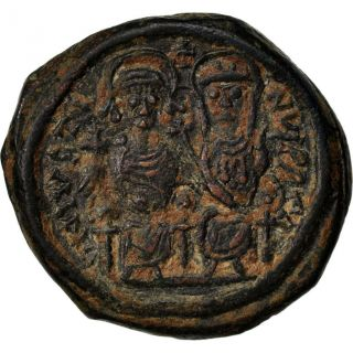 Bysantine Empire,  Justin Ii,  Follis photo