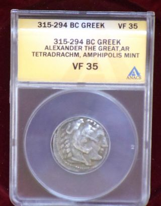 Certified Vf 35 Alexander The Great Silver Tetradrachm Ancient Coin 315 - 294 Bc photo