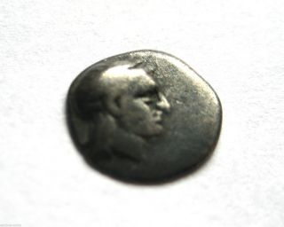 Rare C.  400 B.  C Archaic Ancient Greece Gela Ar Silver Obol Coin.  Vf photo