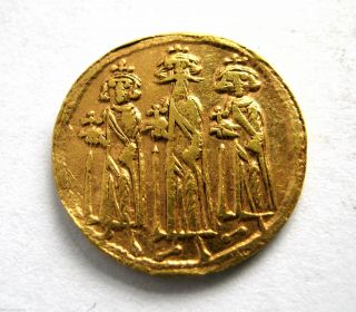 Circa.  550 - 650 A.  D Byzantine Empire Unresearched Au Gold Solidus Coin photo