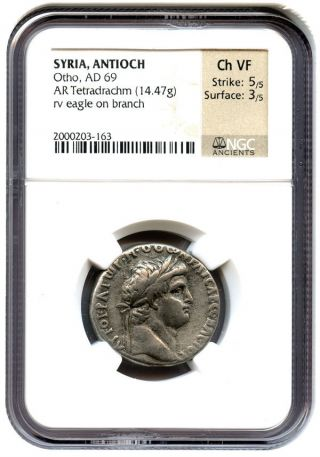 Ad 69 Otho Ar Tetradrachm Ngc Ch Vf (ancient Greek/syria) photo