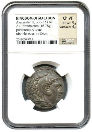 336 - 323 Bc Alexander Iii Tetradrachm Ngc Vf (ancient Greek) photo