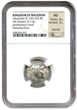 336 - 323 Bc Alexander Iii Ar Drachm Ngc Au (ancient Greek) photo