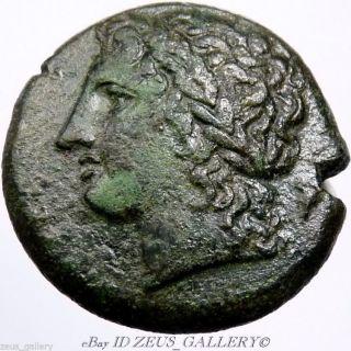 Syracuse Hiketas Zeus/eagle 280bc Calciatti 157 Ancient Greek Coin 22mm photo