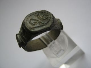 Perfekt Masive Roman Bronze Ring,  I - Ii Century A.  D. photo