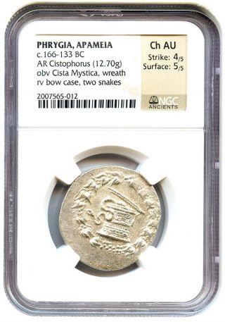 166 - 133 Bc Apameia Ar Cistophorus Ngc Choice Au (ancient Greek) photo
