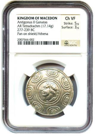 277 - 239 Bc Antigonus Ii Gonatas Ar Tetradrachm Ngc Vf (ancient Greek) photo
