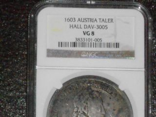 Ngc 1603 Austria Taler Hall Dav - 3005 Medieval Coin Rare photo