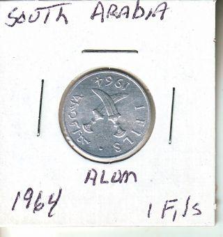 South Arabia 1964 1 Fils Unc.  L7 (now Called Yemen) photo